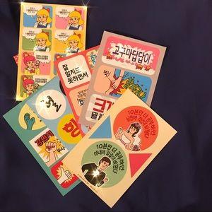 Cute Korean sticker pack for journaling